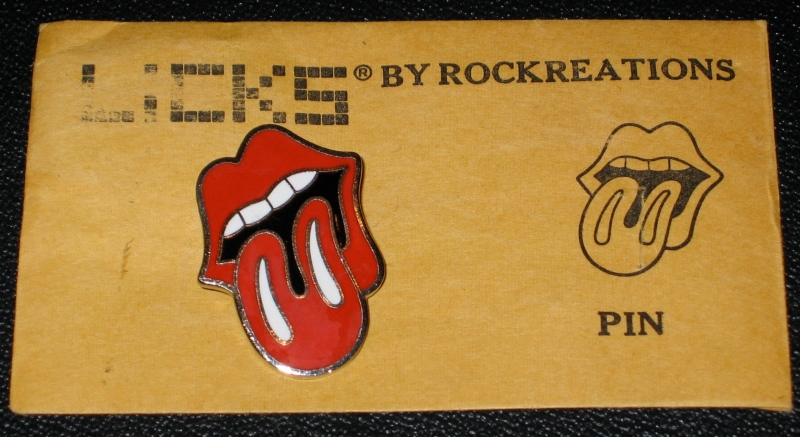 The first Stones Manufactured Tongue pin, circa 1971.