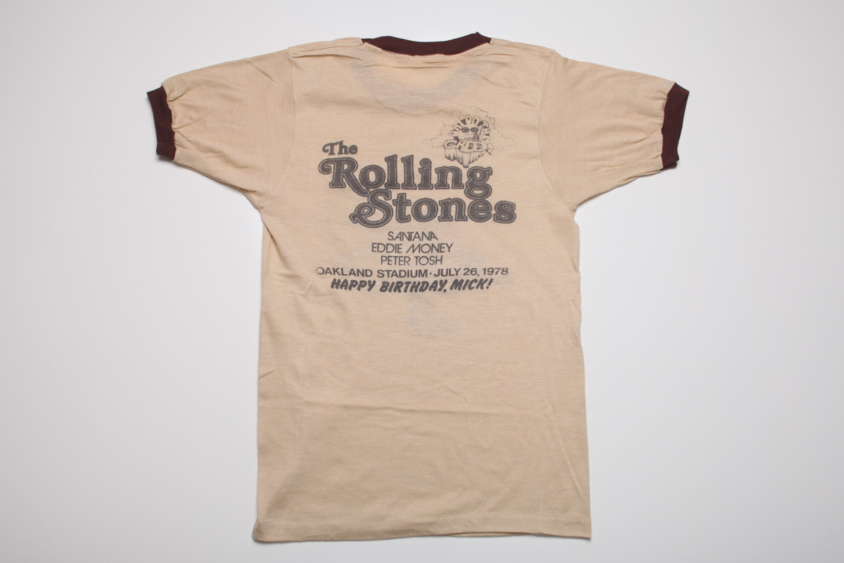 Rare Vintage Rolling Stones Concert T Shirts The Max
