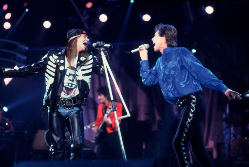 Axl Rose and Mick Jagger-December 21st, 1989