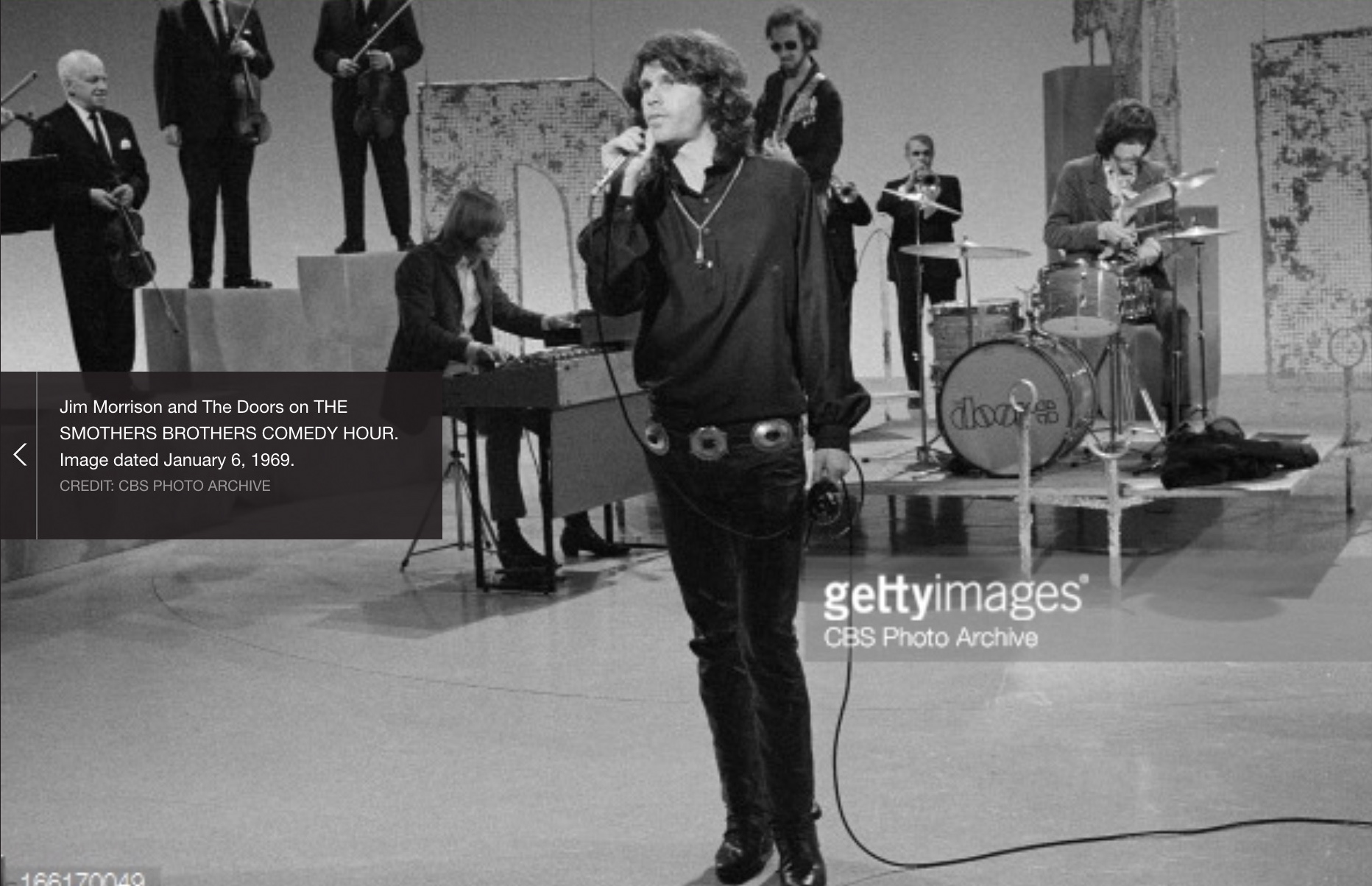 """John Densmore Drummer for The Doors  """"Snarling as hell, that was my"""